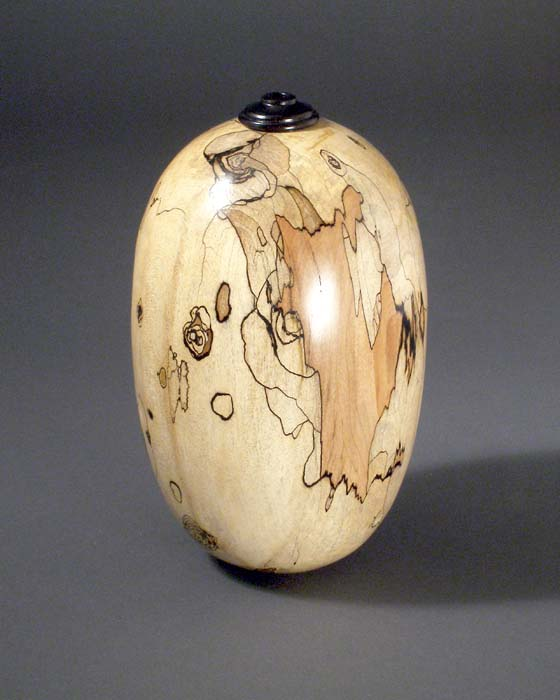 Turned Wood Art Enhanced With Carving Piercing Pyrogroaphy And